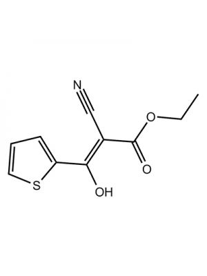 2-Propenoic acid, 3-(2-thienyl)-2-cyano-3-hydroxy-, ethyl ester